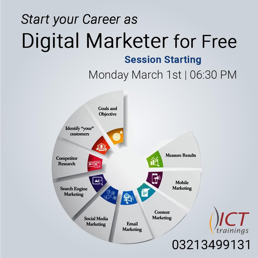 Start your Career as Digital Marketer for Free